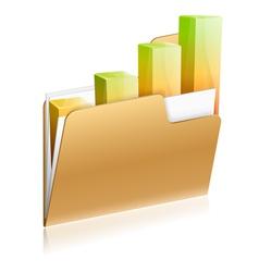 Financial folder icon vector