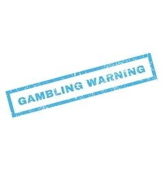 Gambling Warning Rubber Stamp vector