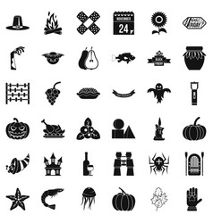 Halloween icons set simple style vector