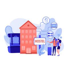 Hostel services concept vector