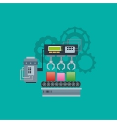 Industrial machine with gears image vector