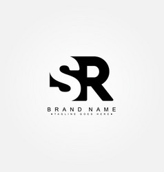 Initial letter sr logo - simple business style vector
