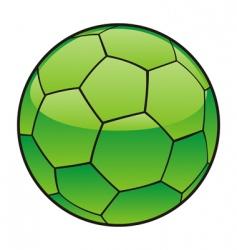 libya flag on soccer ball vector image