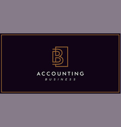 Line b accounting logo simple and sophisticated vector