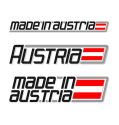 made in austria vector image