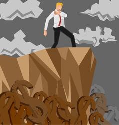 Man money cliff vector