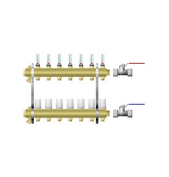 Manifold for heating with vents vector