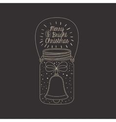 Mason jar decoration for Christmas season vector