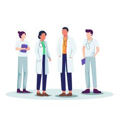 medical staff vector image