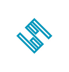 Modern logo business technology simple minimalist vector