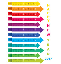 New year 2017 calendar design vector