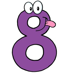 Number Eight Cartoon Character vector image