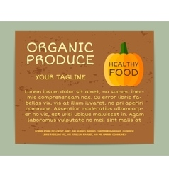Organic farm corporate identity design with vector image