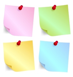 Paper note set vector image