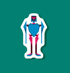 paper sticker on stylish background toy robot vector image