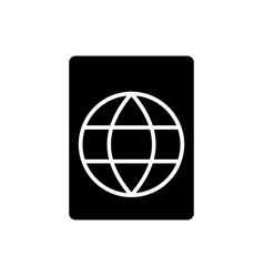 passport icon black sign on vector image