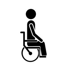 Person in wheelchair icon image vector