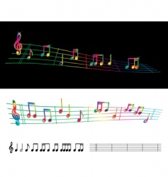 rainbow sheet music vector image