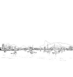 rio de janeiro brazl vector image