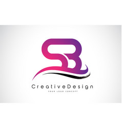 Sb s b letter logo design creative icon modern vector