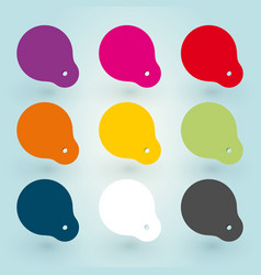 set of colored stickers vector image