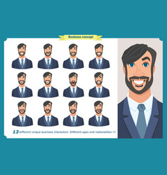 Set of male facial emotionsface expressions vector