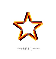 star from ribbon with Germany flag colors vector image