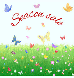 summer spring sale marketing poster vector image