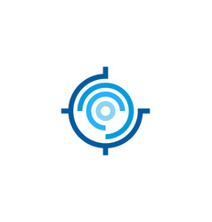 Tech target logo icon design vector