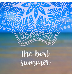The best summer banner with mandala vector
