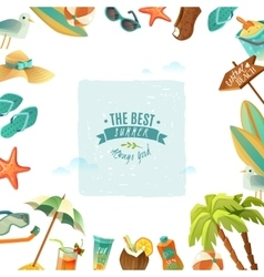 The best summer poster vector image