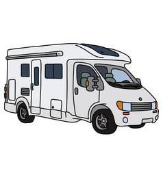 The white caravan vector