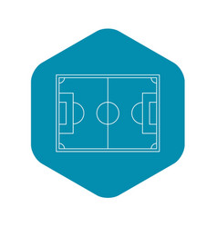 top view of soccer field icon outline style vector image