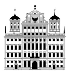 Town hall in augsburg vector