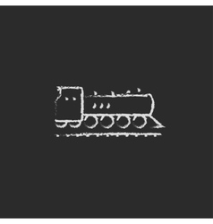 Train icon drawn in chalk vector image