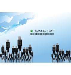 USB forest vector image