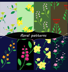 vintage floral patterns vector image