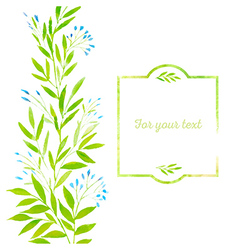 Watercolor spring leaves vector image