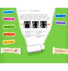 website template vector image