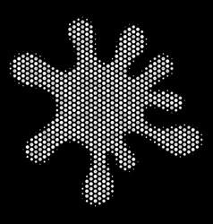 white pixel blot icon vector image