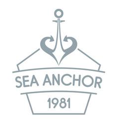 anchor logo simple gray style vector image