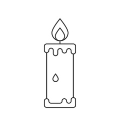 Candle icon suitable for info graphics websites vector image