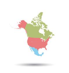 north america map icon flat north america sign vector image