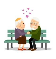 Senior Couple Love vector image