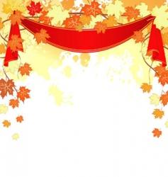 autumn back splash ribbon vector image