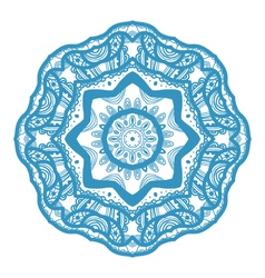 Christmas decorative lace ornament vector image