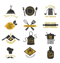 Coocking badge vector image vector image