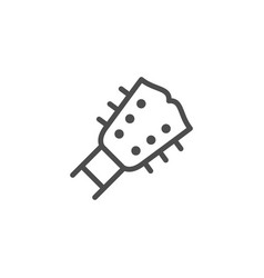 guitar line icon vector image