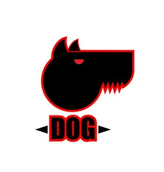 Logo of angry dog with strong collar aggressive vector