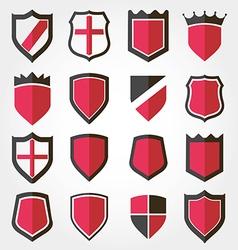 shield set icon vector image
